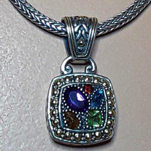 EFFY Balissima  Sterling 18KG Gem Stones Necklace